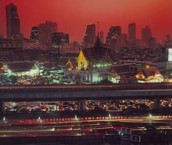 Bangkok scene at night