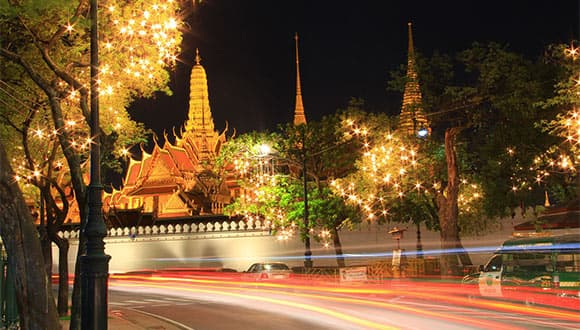 Emerald Buddha at night